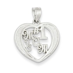 #1 Mom Charm in 925 Sterling Silver