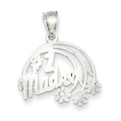 #1 Madre Charm in 925 Sterling Silver