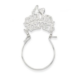 #1 Grandmother Charm Holder in 925 Sterling Silver