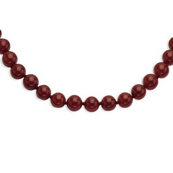 10-10.5mm Smooth Beaded Carnelian Necklace