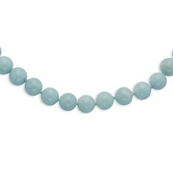 10-10.5mm Smooth Beaded Amazonite Necklace
